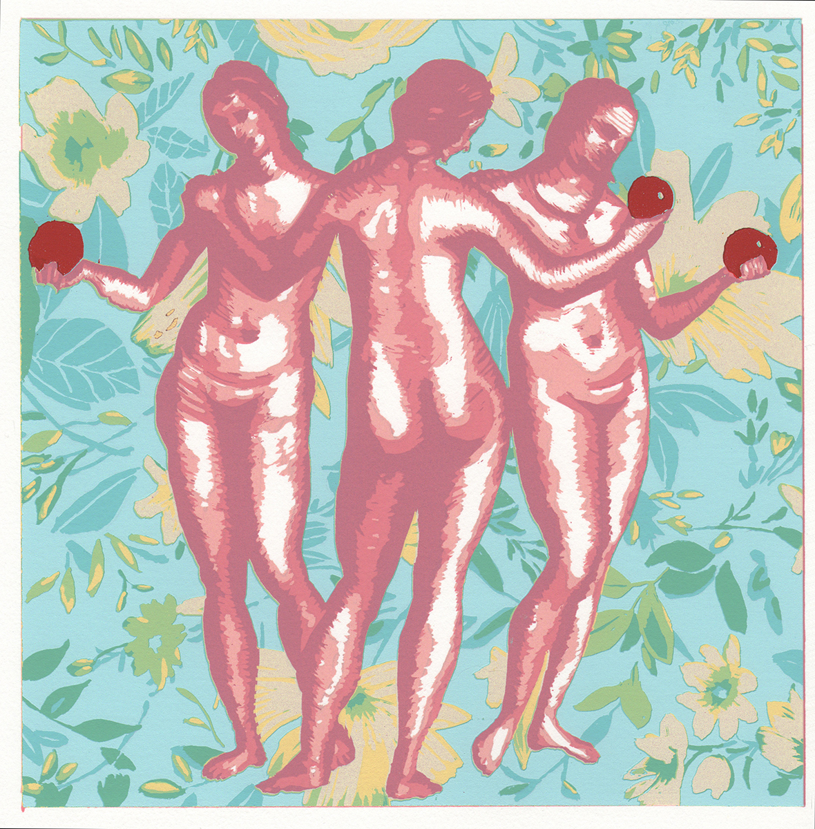 The Three Graces » Screenprint, 2013