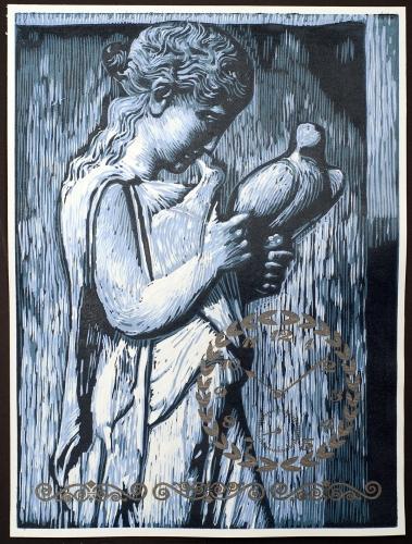 Paros Stele » Woodcut, 2011