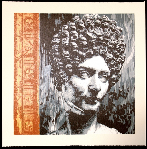Unknown Roman Lady »  Woodcut, 2009