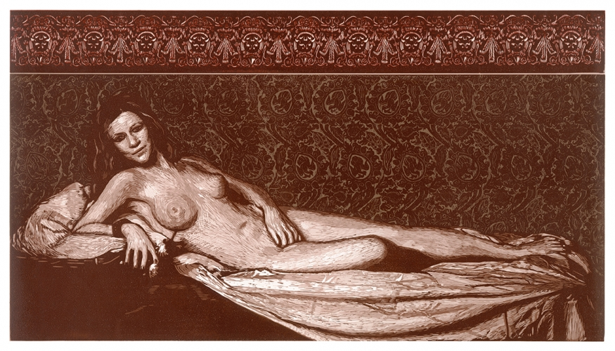 Venus, after Titian » Woodcut, 2012